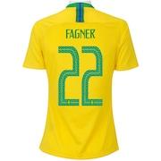 Camisa da Seleção Brasileira I 2018 Nike nº 22 Fagner - Feminina