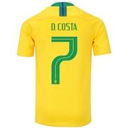 Camisa da Seleção Brasileira I 2018 Nike nº 7 Douglas Costa - Juvenil