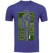 Camiseta Adams - Masculina - Azul - Fome de Bola