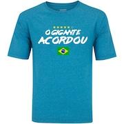 b987d23ea3 Camiseta Brasil x Costa Rica I - Futebol 2018 - Oxer - Azul Cinza Esc