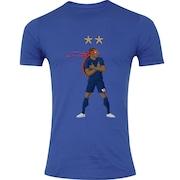 Camiseta Adams Futebol - Masculina - Azul - França IV