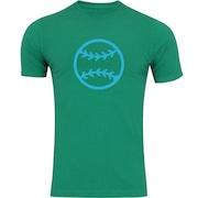 Camiseta Adams Básica Futebol - Masculina - Verde - Bola Beisebol