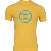 Camiseta Adams Básica Futebol - Masculina - Amarelo - Bola Beisebol