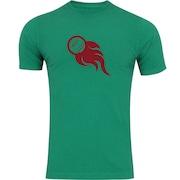 Camiseta Adams Básica Futebol - Masculina - Verde - Bola de Fogo
