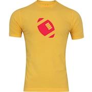 Camiseta Adams Básica Futebol - Masculina - Amarelo - Bola de Futebol Americano