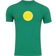 Camiseta Adams Básica Futebol - Masculina - Verde - Bola de Tênis Amarela