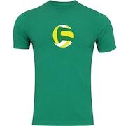 Camiseta Adams Básica Futebol - Masculina - Verde - Bola de Vôlei Colorida