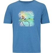 7e60ba694e Camiseta Oxer Básica - Masculina - Azul Mescla - Bike Watercolor