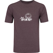 Camiseta Oxer Básica - Masculina - Vinho Cinza Escuro - Just Start 0c4b01bb1a1
