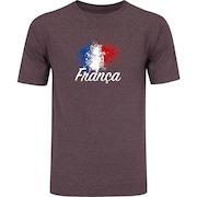 Camiseta Oxer Básica - Masculina - Vinho/Cinza Escuro - Time Franca