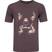 Camiseta Oxer Básica - Masculina - Vinho Cinza Escuro - The College 2015 369c52e669b87
