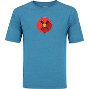 b5a501aed Camiseta Oxer Básica - Masculina - Azul Cinza Esc - Taco Beisebol Roxo