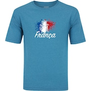 Camiseta Oxer Básica - Masculina - Azul/Cinza Esc - Time Franca