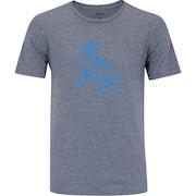 Camiseta Oxer Básica - Masculina - Cinza - Patins Retrô