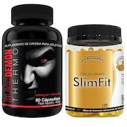 Kit Com Black Demon Thermo - 60 Cápsulas - Intlab + Slimfit - 120 Softgels - Nitech Nutrition