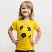Camiseta 4 Linhas Bola - Infantil