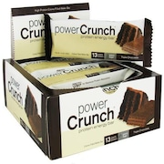Barra de Proteína BNRG Power Crunch -  Triple Chocolate - Caixa com 12 Barras