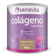 Colágeno Hidrolisado Sanavita - Cappuccino - 300g