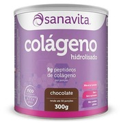 Colágeno Hidrolisado Sanavita - Chocolate - 300g