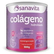 Colágeno Hidrolisado Sanavita - Morango e Açaí - 300g