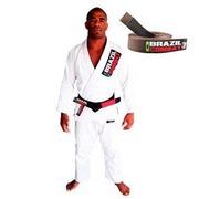Kimono de Jiu-JItsu Brazil Combat Starter Branco com Faixa Marrom