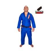 Kimono de Jiu-Jitsu Brazil Combat Xtra-Lite Azul com Faixa Branca