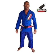 Kimono de Jiu-JItsu Brazil Combat Starter Azul com Faixa Branco