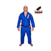 Kimono de Jiu-Jitsu Brazil Combat Xtra-Lite Azul com Faixa Branco