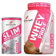 Whey Protein PRO-F - Chocolate - 900g + Slim Definition Pro-F 30 Sachês - Body Action
