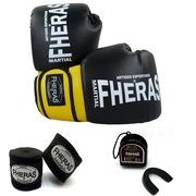 Kit de Boxe Fheras Orion com Luva + Bandagem - 3,5m + Protetor Bucal