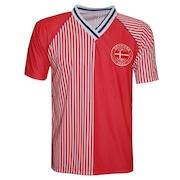 e19473dfca304 Camiseta Dinamarca Liga Retrô 1986 Poliéster Fit - Masculina
