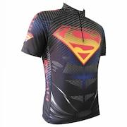 Camisa de Ciclismo Invicto Superman Proteção UV 50+ - Infantil