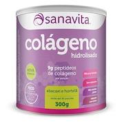 Colágeno Sanavita Hidrolisado - Abacaxi e Hortelã - 300g