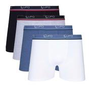 9e88ed7e1 Kit Lupo  Cuecas Boxer Confort 523-002 em Cotton - Adulto - 4 unidades