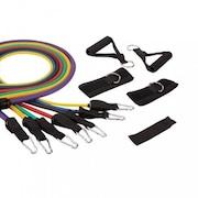 Extensores Elásticos LiveUp LS3634 Multifuncional com 7 Elásticos de Diferentes Tensões