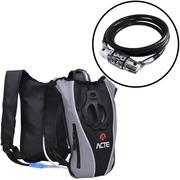 Mochila de Hidratação Acte Sports C1 Slim - 1,5 Litros + Cadeado para Bicicleta com Segredo A15