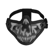 Máscara de Proteção Airsoft Meia Face Caveira HY-024BK - Adulto