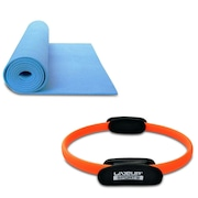 Anel de Pilates e Yoga Live Up LS3167B Plus Toning Ring + Tapete de Yoga Live Up LS3231B