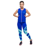 Conjunto Sandy Fitness Effect Special: Top + Calça Legging + Colete - Feminino