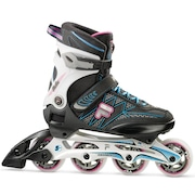 Patins Fila Helix Lady 80mm/82A - In Line - Fitness - ABEC 5 - Ajustável - Adulto