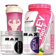 Whey PRO-F Body Action - Frutas - 900g + BCAA - 200 Cápsulas + Creatine - 100g + Coqueteleira - 600m