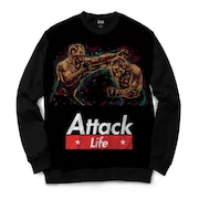 Blusa Moletom Attack...