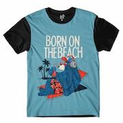 9e6d70272 Camiseta Long Beach Urso Praia - Masculina