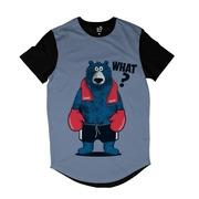 Camiseta Longline Long Beach Urso Boxe -Masculina 004e04ab0fa