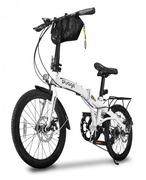 Bicicleta Two Dogs Pliage Plus Dobrável - Aro 20 - Câmbio Shimano - 7 Marchas - Adulto