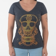 Camiseta Bikezetas Skull Just Ride - Feminina