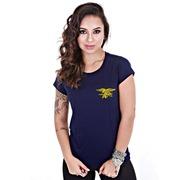 f7b83af7e Camiseta Baby Look Team Six Militar US Navy Seals - Feminina