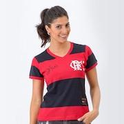 Camisa Retrô Gol Flamengo Baby Look 1981 Zico Libertadores - Feminina