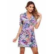 e033cf7cd Saída de Praia Maré Brasil Camisa com Botões - Feminina
