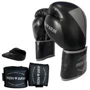 0c52e7b60 Kit de Boxe Muay Thai Iron Arm com Luva Boxe Muay Thai + Bandagem e  Protetor Bucal - Adulto